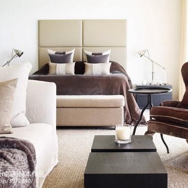 现代风格卧室样板间设计图片