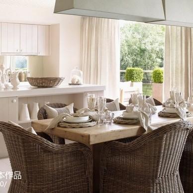 优雅现代风格餐厅样板间设计