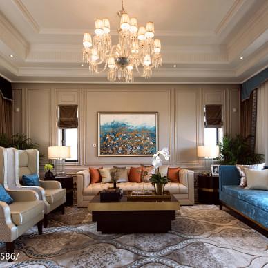 新古典风格客厅装修案例图