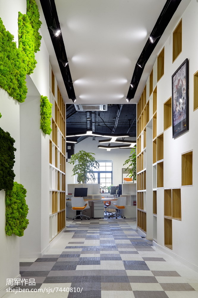 娱乐资讯_创意时尚的办公室过道设计 – 设计本装修效果图