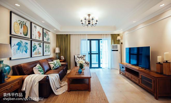 现代美式客厅设计案例