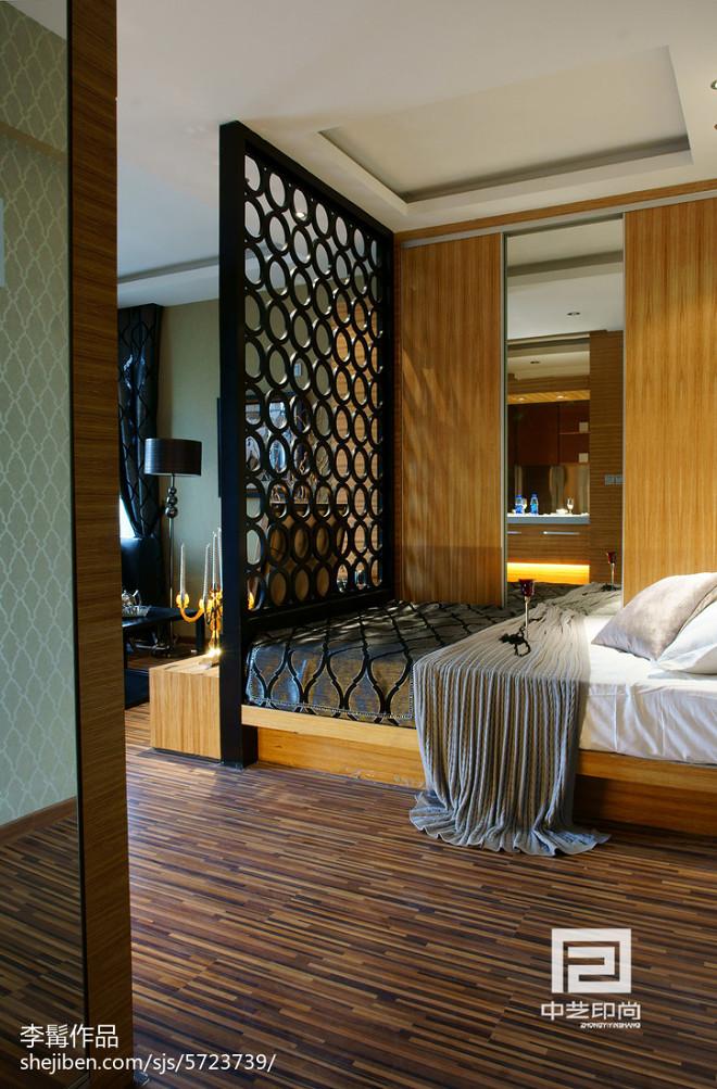 混搭风格小户型卧室隔断设计