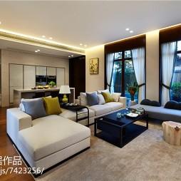 别墅中式风格客厅效果图
