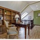 家装美式书房布局效果图