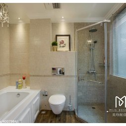 美式风格复式卫浴设计