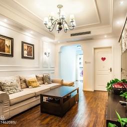 复古美式二居室客厅设计