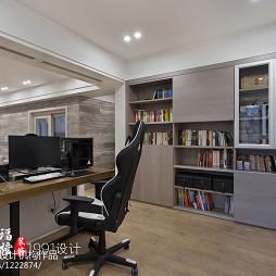 现代风格开放式书房装修