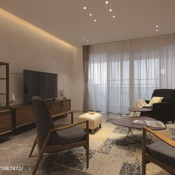 素雅现代风格别墅客厅装修