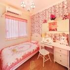 美式粉红色调儿童房设计