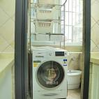 美式风格阳台洗衣机设计
