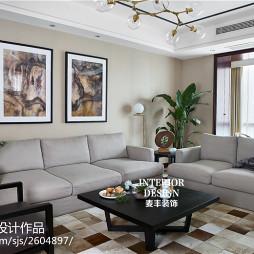 新中式风格客厅效果图欣赏