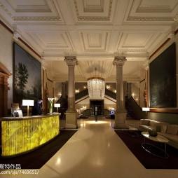 古典风格酒店大堂装修