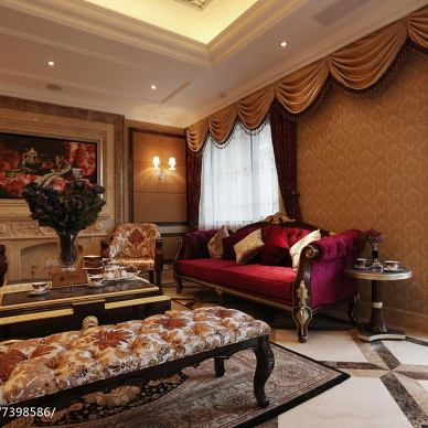 别墅新古典风格客厅设计案例
