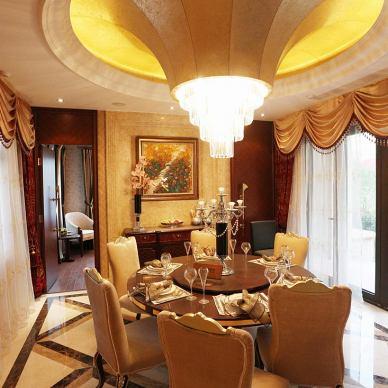 奢华新古典风格别墅餐厅设计