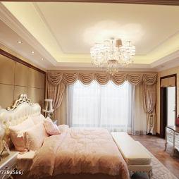 新古典风格浪漫卧室布置