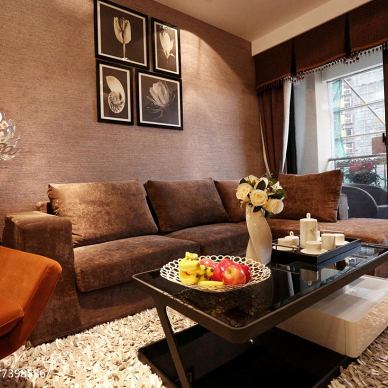 时尚现代风格客厅装修样板房