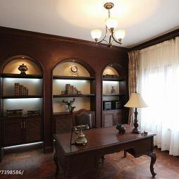 复古地中海风情书房设计