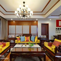 复古中式风格家居客厅设计