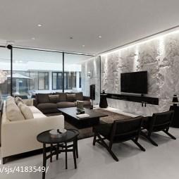现代风格别墅客厅装修案例
