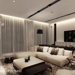 白色现代风格客厅设计装修