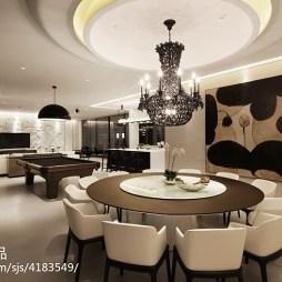 华丽现代风格别墅餐厅装修
