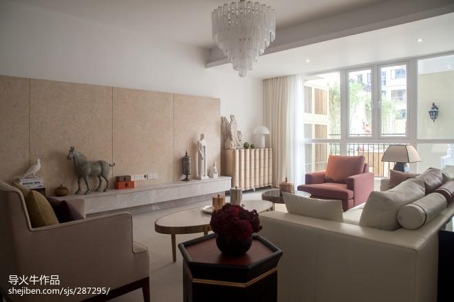 梦幻混搭风格客厅设计效果图