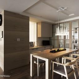 现代风格原木餐厅设计