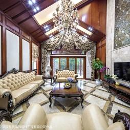 豪华混搭风格客厅装修方案