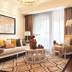 样板房简欧风格客厅装修大全