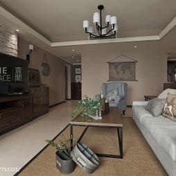 美式二居室客厅装修案例