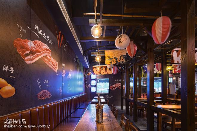 宜宾大板烤五花餐厅设计效果图