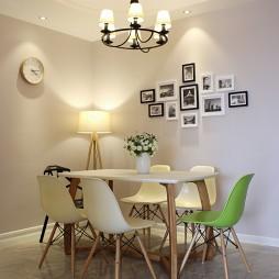现代风格餐厅照片墙效果图