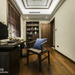 中式风格深色系书房设计