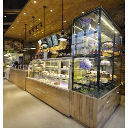 西餐厅橱窗展示柜设计