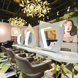 荧光兽美妆店化妆台设计