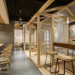 欢易小面餐厅过道设计