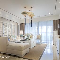 白色中式风格客厅装修