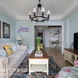 时尚美式二居室客厅装修