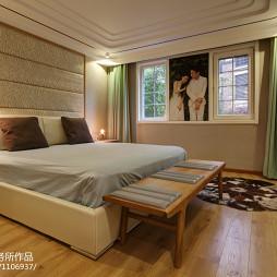 简约现代风格别墅卧室效果图