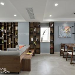 北欧风格四居室书架设计