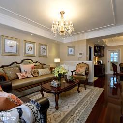 美式田园风格三居室客厅装修