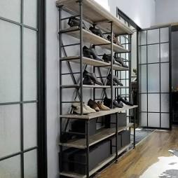 男装定制店鞋架设计