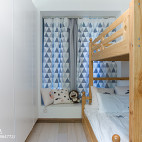 清新日式儿童房布置