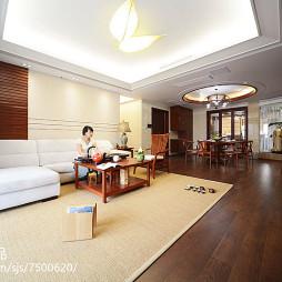 新中式风格三居室客厅装修