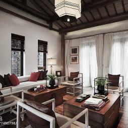 别墅中式风格客厅设计案例