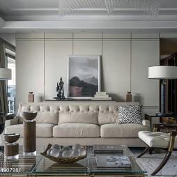 舒适简欧风格样板间客厅装修
