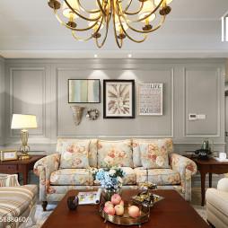 浪漫美式客厅效果图