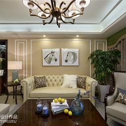 华贵新古典风格客厅装修