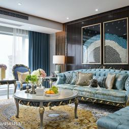 简欧风格三居室客厅效果图
