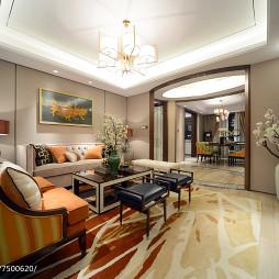 雅致东南亚风格客厅装修图片
